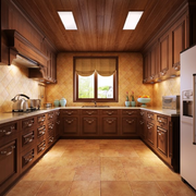 厨房自然木吊顶