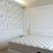 白色时尚的卧室