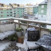 冬日里的露台