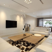 客厅白色素雅背景墙