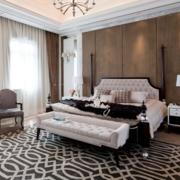 卧室白色时尚的窗帘