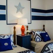 蓝色时尚的儿童房