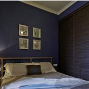 卧室紫黑色墙面