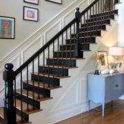 美式深色系的楼梯