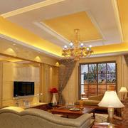 金色辉煌的客厅