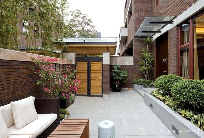 供人休闲的独栋别墅室内外入户花园装修效果图