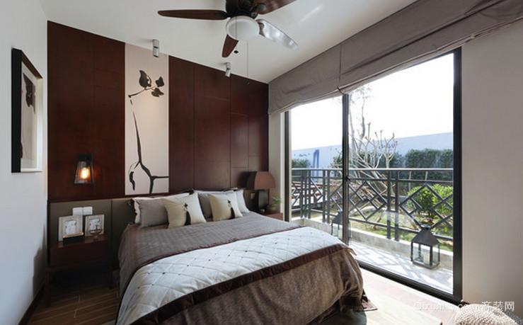 动人巧克力色的卧室装修效果图