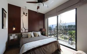 别墅卧室床头背景墙