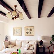自然洁白的客厅吊顶