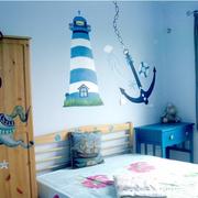 蓝色欢快的儿童房