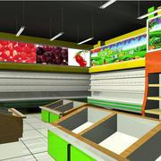 水果店黑色吊顶