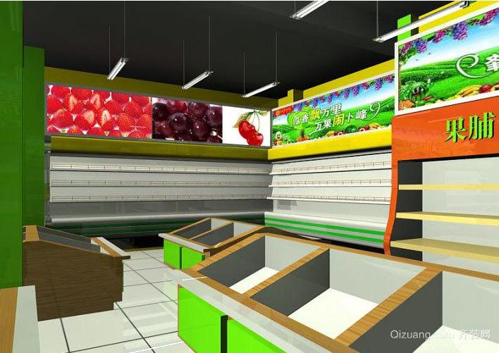 2015繁华都市中的水果店吊顶装修效果图鉴赏