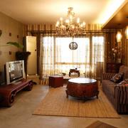 日式温馨客厅背景墙