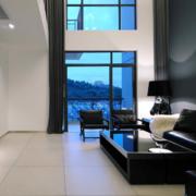 大户型复式楼客厅窗帘