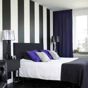 卧室黑白条纹壁纸