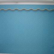 蓝色清新的窗帘