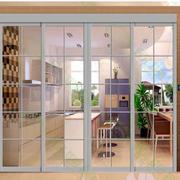 白色简约的厨房门