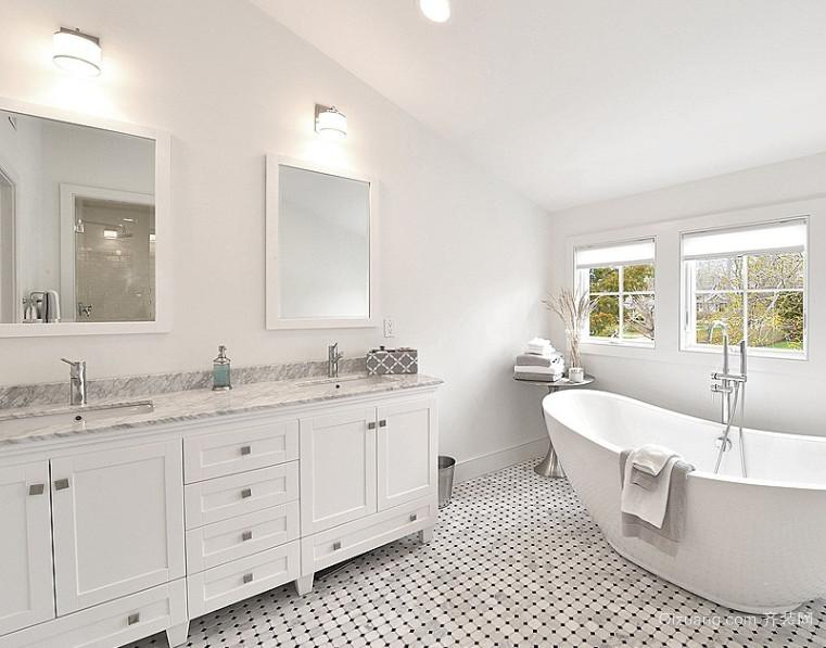 三室一厅65平米后现代主卧室卫生间装修效果图