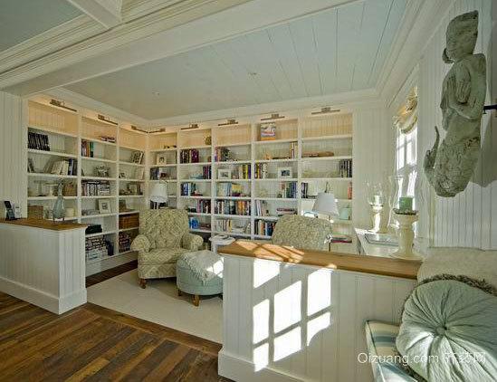 30平米欧式田园风格书房装修效果图