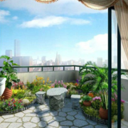 别墅阳台花园展示