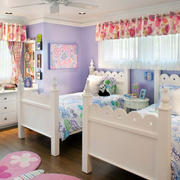 紫色浪漫的儿童房