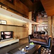雅致的客厅电视墙