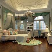 清新抹茶绿卧室窗帘