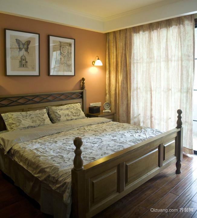 浪漫橙色卧室装修效果图
