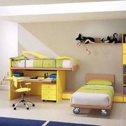 小清新绿色的卧室