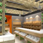 水果店实木吊顶