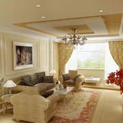 温暖时尚的客厅沙发
