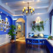 家装地中海照片墙