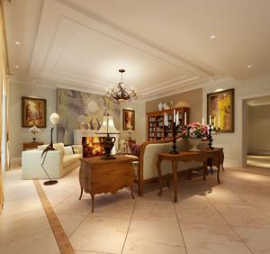 美式客厅背景墙装潢