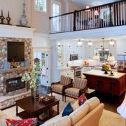 美式客厅背景墙欣赏