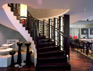 复式楼黑色时尚楼梯