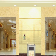 金色系的电梯