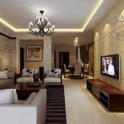 客厅瓷砖时尚背景墙