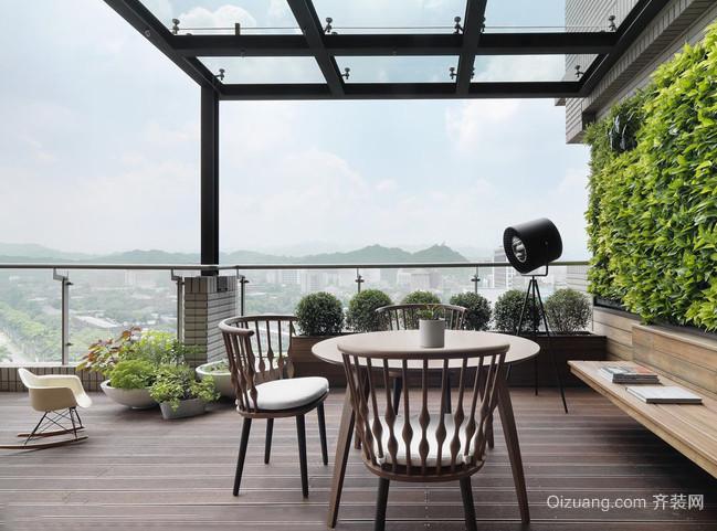 很有情调的现代风格露台花园设计图片鉴赏