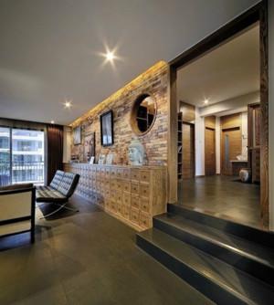 三室两厅两卫都市小错层客餐厅装修效果图