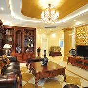 客厅中式背景墙