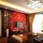 红色的日式背景墙