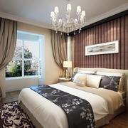 卧室床头实木背景墙