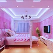 粉色系的公主卧室