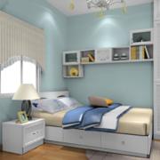 卧室简洁蓝色壁纸
