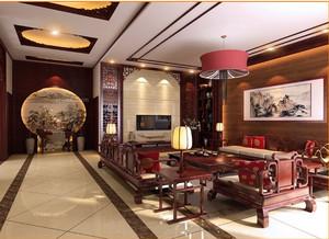 中式客厅背景墙