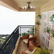 别墅小型卧室阳台