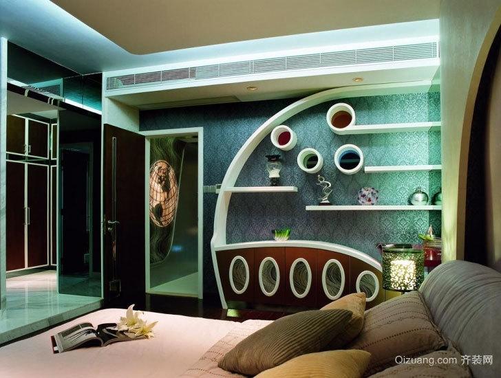 两室一厅后现代风格小卧室吊顶装修效果图