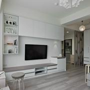 客厅白色简约置物架