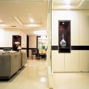 客厅简约白色的鞋柜