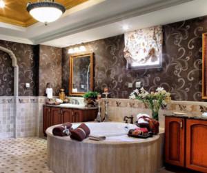 现代混搭豪华宽敞别墅卫生间装修效果图